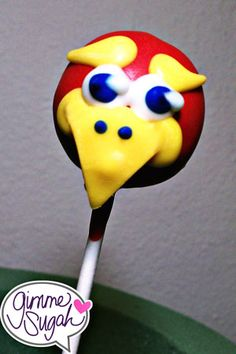First attempt at Jay...Jayhawk cakepop.  GO KU! :)