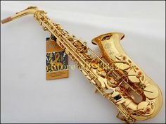 France Selmer 802 Eb Alto Saxophone Brand Professional Gold Plated Saxe Top Musical Instrument Sax With Case mouthpiece