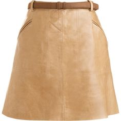Felicia Skirt ($179) ❤ liked on Polyvore featuring skirts, mini skirts, leather, saia, юбки, bottoms, clothing & accessories, women, short skirts and leather skirt