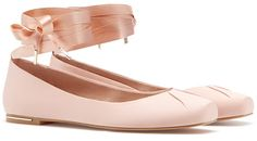 Stradivarius Lace-Up Ballet Flats in rose pink satin, £25.99 (Chloé inspired)
