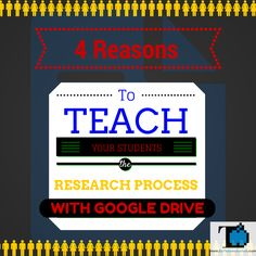 EdTechnocation (A Fusion of Technology and Education): 4 Reasons to Teach Students the Research Process with Google Drive!