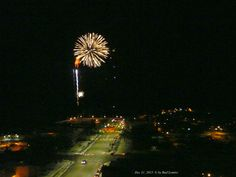 New Years Eve's Fireworks at The Municipal Dock, seen from my window