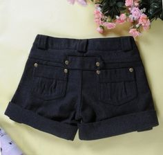 Korean Style Fashion Women's Woolen Short Pant on BuyTrends.com, only price $8.57