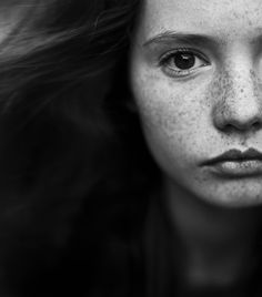Untitled by Андрей Алешин -- Freckles - Portraiture - Portrait - Black and White Photography