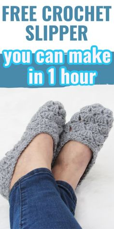 Easy Crochet Slippers, Crochet Slipper Pattern, Crotchet Patterns, Crochet Shoes, Knit Or Crochet, Cute Crochet, Crochet Crafts, Crochet Style, Felted Slippers