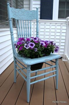Reclaimed Chair Planter by TheReclaimedLife on Etsy, $55.00