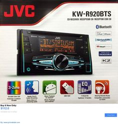 Vehicle Electronics And GPS: Jvc Kw-R920bts Double-Din In-Dash Car Stereo Cd Player/Receiver W/Bluetooth Usb BUY IT NOW ONLY: $112.0 #priceabateVehicleElectronicsAndGPS OR #priceabate