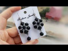Seed Bead Earrings, Beaded Earrings, Beaded Jewelry, Handmade Jewelry, Pearl Earrings, Seed Bead Tutorials, Beading Tutorials, Beading Patterns, Skull Jewelry