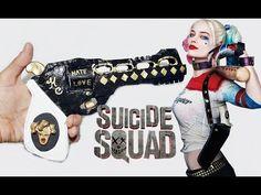 PISTOLA casera Harley Quinn, DIY Gun Suicide Squad, DISFRAZ HALLOWEEN - BeagleArts ♥ - YouTube