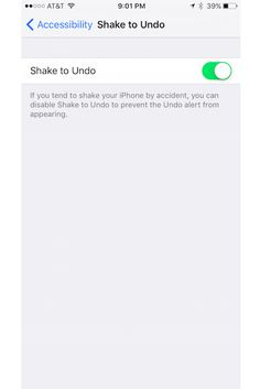 """11 Tricks For Solving Your Most Annoying iPhone Problems #refinery29  http://www.refinery29.com/2016/01/101494/iphone-problems-troubleshooting#slide-6  How To Undo A Mistake When Typing A Message Instead of having to press and hold the backspace button to get rid of something you've incorrectly typed or pasted, turn on the """"Shake to Undo"""" setting. By doing this, you'll be able to shake your phone to undo your error.Go to Settings, General, Accessibility, and switch on Shake to Undo...."""
