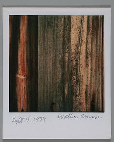 Walker EVANS :: Detail of Wood Grain, Sept. 15th, 1974
