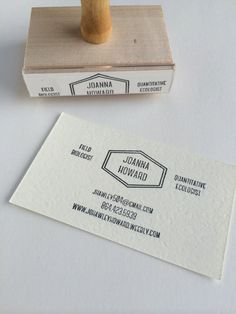 Business Card Stamp  MidCentury Mod by tinoiseau on Etsy, $50.00 | Use the code PIN10 to get 10% off!