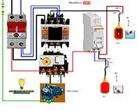 Esquemas eléctricos: Motor bomba monofasica con manual-automatico