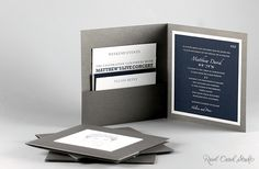 Pocket folder bar mitzvah invitation by Real Card Studio - NOT caricature on the front