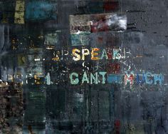 """Saatchi Art Artist: Niki Hare; Mixed Media 2013 Painting """"speak (I cant much)"""""""