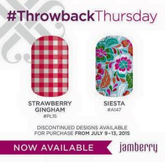 Throwback Thursday designs for July 9 - 13!