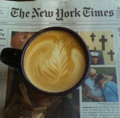 Coffee and New York Times
