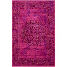 Amazon.com: Unique Loom Istanbul Collection Fuchsia 2 x 3 Area Rug (2'... ($19) ❤ liked on Polyvore featuring home, rugs, fuschia rug, loom rugs and fuschia area rug