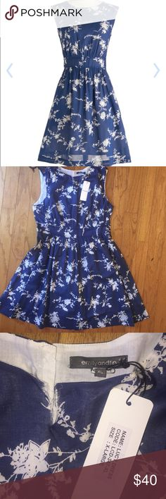 Modcloth Dress NWT Lucy Dress Fit and flair mod cloth dress. I think it's called too much fun floral. Unfortunately there is a straight tear in the top part of the collar area see photos. Still brand-new and stunning all buttons are in place. ModCloth Dresses Midi