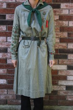 Antique 1930s Senior Patrol Leader Girl Scout Dress Uniform Hat Belt Badges Pins | eBay