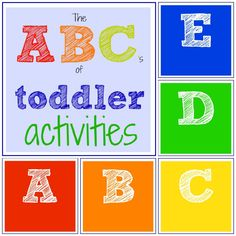 Toddler Approved!: The ABC's of Toddler Activities    They go through the whole alphabet!  This will be a great resource in a few months!