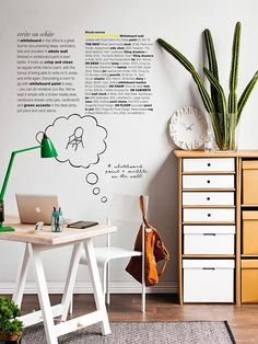 I want this office space! Poppytalk: 5 Fresh Home Office Ideas