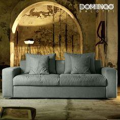Modern Italian sofa bed Exton by Domingo Salotti