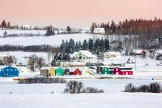 This Canadian province may be beloved for its beaches in the summertime, but once winter hits, its colorful fishing towns settle down for a calm winter season.   - CountryLiving.com