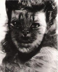Max A. Wyss - La femme chatte (photomontage). 1950. ☚