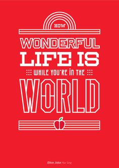 25 creative posters with memorable music quotes