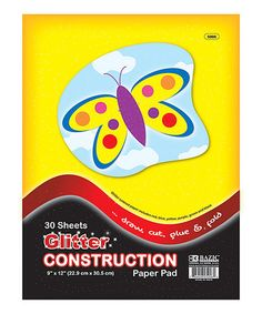 Another great find on #zulily! 30-Ct. 9'' x 12'' Glitter Construction Paper - Set of 48 #zulilyfinds