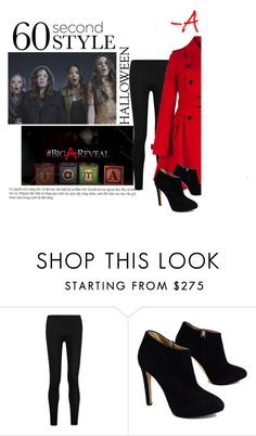 """""""-A"""" by alwaysroyal ❤ liked on Polyvore featuring Donna Karan and Giuseppe Zanotti"""