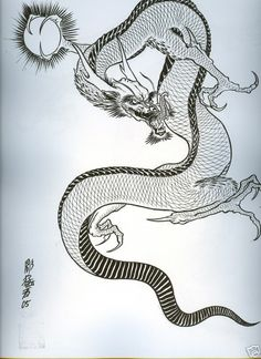 DRAGONS BY HORIMOUJA JAPANESE TATTOO