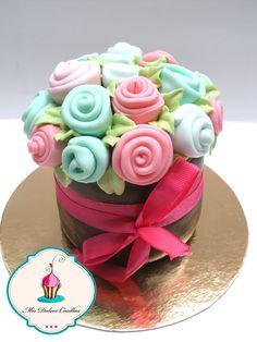 mini tarta de chocolate en forma de maceta.... perfecto para un regalo