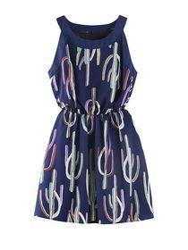 Stylish Print Sleeveless O Neckline Women Mini Dress img