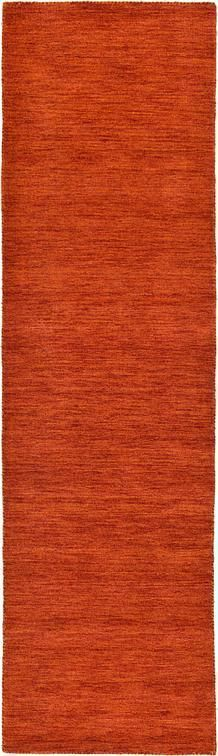 Terracotta Solid Gabbeh Area Rug