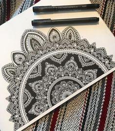 FINALLY! WEEKEND! Perfect timing to start another project... #tgif #friday #weekend #draw #drawing #sketch #doodle #mandala #mandalaart #artwork #art #ink #pencil #blackandwhite #tattoo #illustration #inspiration #design #instaart #instagram #instagood #instadaily #instapic #picoftheday #photooftheday #mandalaplanet #mandalala #blxckmandalas #beautiful_mandalas