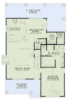 House Plan 82086 Level One
