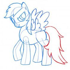 how to draw rainbow dash, my little pony friendship is magic!