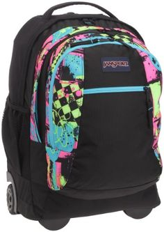 JanSport Driver 8 Rolling Backpack Multi Neon Galaxy - via eBags ...