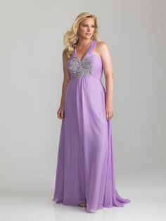 A-line V-neck Floor-length Chiffon Plus Size Prom / Evening Dresses Cheap 00201033