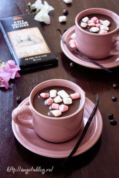 Кофе с шоколадом. #hot, #chocolate, #drinks, #food, #sweet, #coffee, #marshmallow, #yummy, #passion