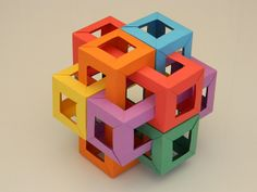 Six Interlocking Square Prisms – also by Michal Pikula