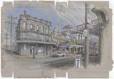 Urban Sketchers: Temuka, Timaru and Oamaru - sketches from the edge of the world