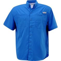 Columbia Sportswear Men's Tamiami II Shirt (Vivid Blue, Size Medium) - Men's Outdoor Apparel, Men's Fishing Tops at Academy Sports
