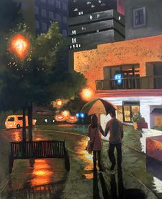 You'll find easy steps to paint dazzling cityscapes at night in pastel on http://ArtistsNetwork.tv with help from Chris Ivers! #pastel #painting #cityscapes
