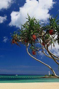 Okinawa blue, Sun Marina Beach, Okinawa, #Japan. #travel