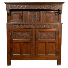 17th Century English Oak Court Cupboard | From a unique collection of antique and modern cupboards at http://www.1stdibs.com/furniture/storage-case-pieces/cupboards/