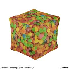 Colorful Gumdrops Pouf