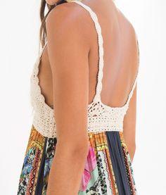 vestido croche lenco lindo